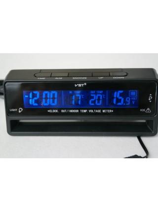 Электронные часы с термометром для автомобиля VST - 7010V