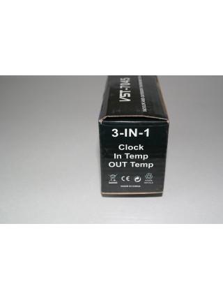 Электронные часы с термометром для автомобиля VST - 7045