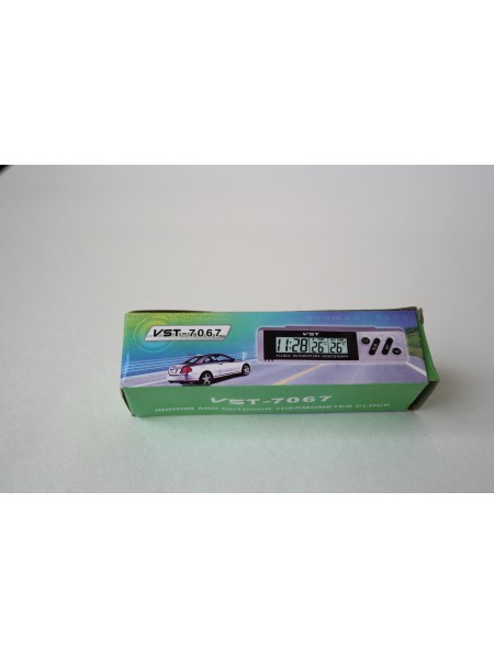 Электронные часы с термометром  для автомобиля VST - 7067