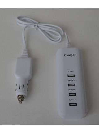 Автомобильный адаптер с 4 USB  портами